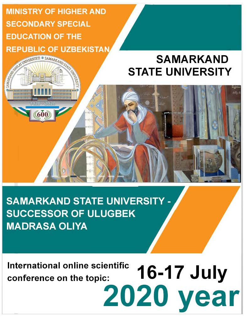 "International online scientific conference ""Samarkand State University - Successor of Ulugbek Madrasa"" organized by Uzbekistan Government on the 600th anniversary of Ulugbek Madrasa, IRCICA's participation"